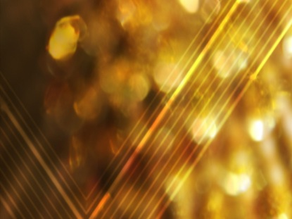 JEWEL TONED GOLD ABSTRACT
