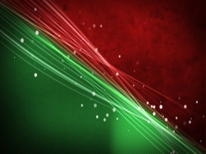 RED AND GREEN WAVES