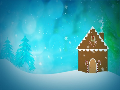 Christmas Gingerbread House Background.Gingerbread House Pixelgirl Media Motion Backgrounds