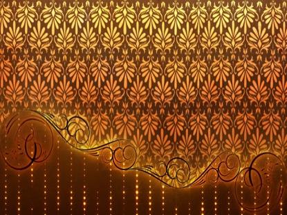 GOLD DAMASK CURTAIN