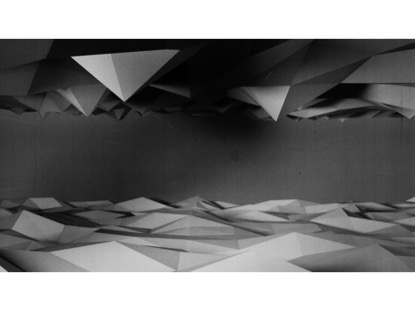 LOW POLY BLACK AND WHITE