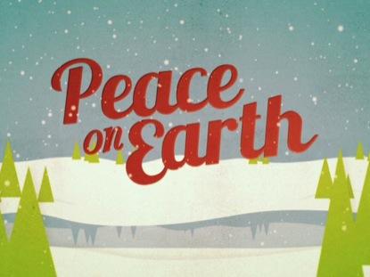 CHRISTMAS WELCOME PEACE ON EARTH