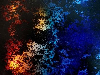 SPIDERWEB BLUE ORANGE