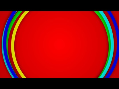 COLORFUL CIRCLES ON RED
