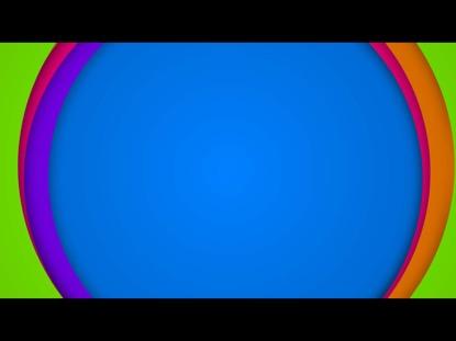 FLAT CIRCLE FRAMES ON BLUE