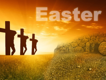 EASTER CROSSES AND TOMB TITLE