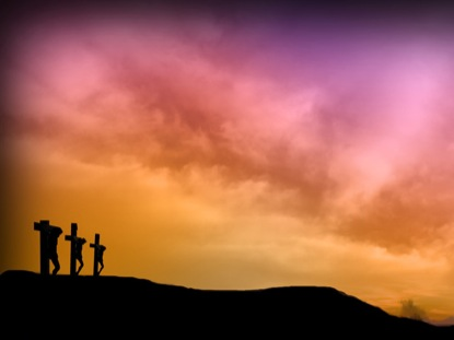 THREE CROSSES AT SUNRISE