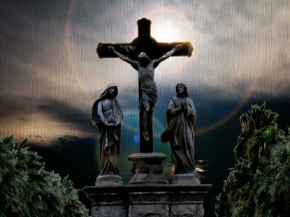 CRUCIFIED STATUE