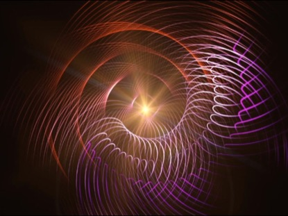 ABSTRACT ANIMATED SPIRAL LINES