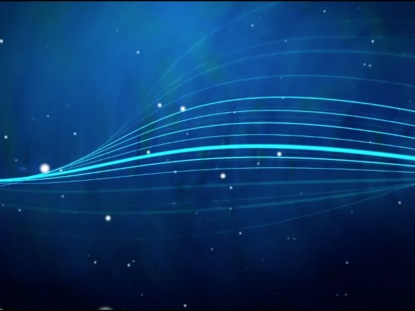 ANIMATED PARTICLES ON BLUE BACKDROP