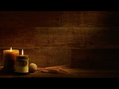 AUTUMN CANDLES WITH WHEAT ON RETRO WOOD BACKGROUND VIDEO