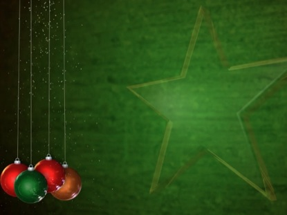 CHRISTMAS ORNAMENTS AND STAR MOTION