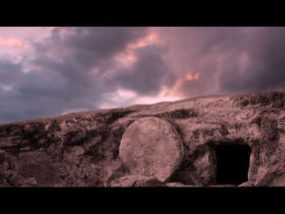 EMPTY TOMB AND MOVING CLOUDS