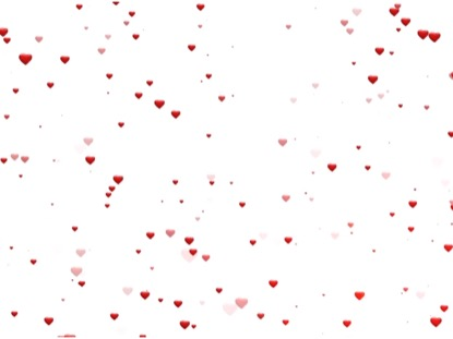 FLOATING RED HEARTS