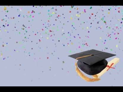 GRADUATION MOTION CONFETTI AND CAP