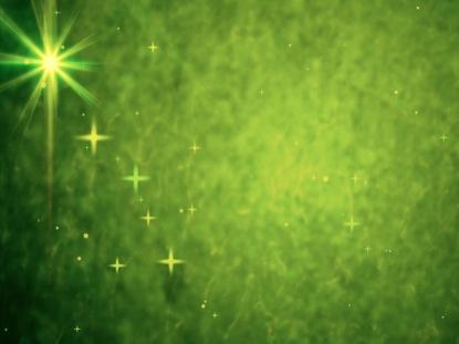 GREEN CHRISTMAS STARS