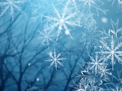 LARGE SNOW FLAKES HOLIDAYS BACKGROUND