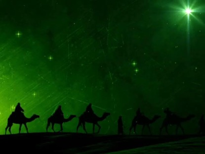 MAGI CARAVAN FOLLOWING THE STAR