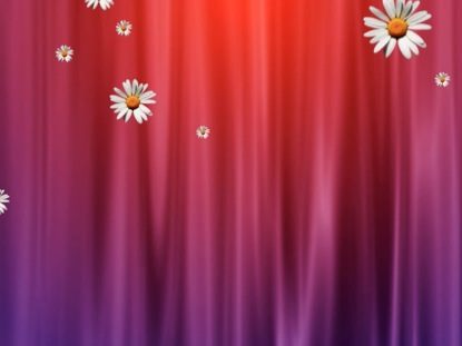 MOTHER'S DAY CURTAIN AND FLOWERS