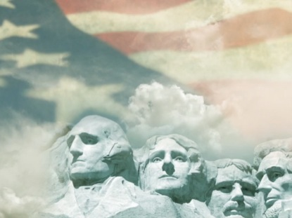 MOUNT RUSHMORE PATRIOTIC BACKGROUND
