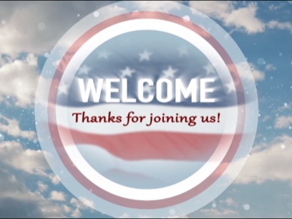 PATRIOTIC WELCOME TITLE BACKGROUND