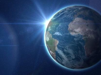 PLANET EARTH ROTATING