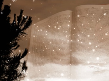 WINTER MOTION BIBLE AND FALLING SNOW