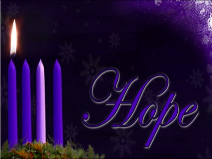 ADVENT HOPE CANDLE BACKGROUND