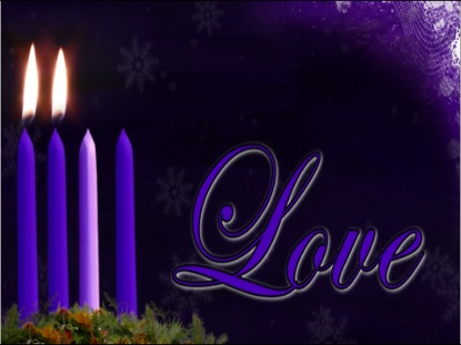 ADVENT LOVE CANDLE BACKGROUND