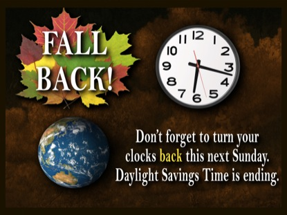 DAYLIGHT SAVINGS TIME MOTION 1 FALL BACK