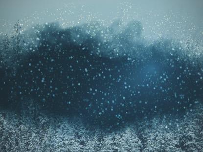 SNOWY NIGHT BLUE