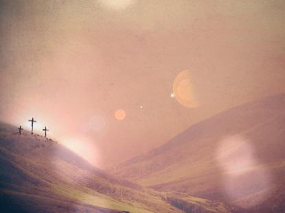 SUNSET CROSSES CALVARY