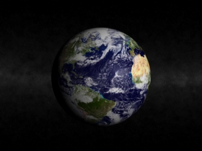 BLUE MARBLE CENTER WITH STARS