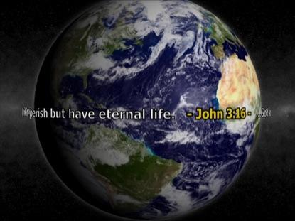 BLUE MARBLE JOHN 3:16 CENTER