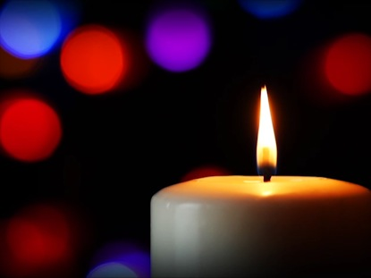 CANDLE AND COLORFUL LIGHTS 01
