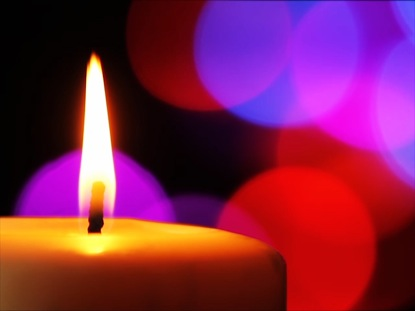 CANDLE AND COLORFUL LIGHTS 02