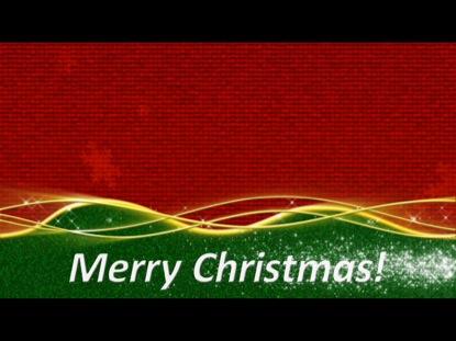 CHRISTMAS COLORS GREETING LOOP