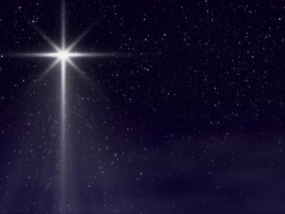 CHRISTMAS STAR EVENING SKY
