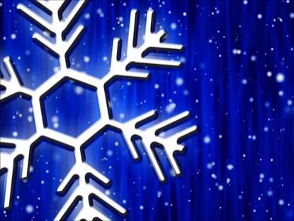 LET IT SNOW COBALT CURTAIN