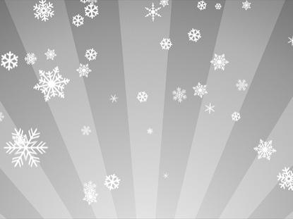 ORNAMENTAL SNOW ON WHITE RADIAL LOOP