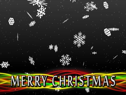 SNOWFALL MERRY CHRISTMAS