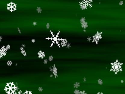 SNOWFLAKES EMERALD LOOP
