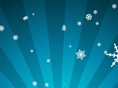 SNOWFLAKES ON BLUE RADIAL LOOP