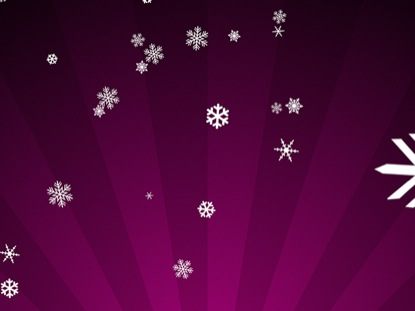 SNOWFLAKES ON MAGENTA RADIAL LOOP