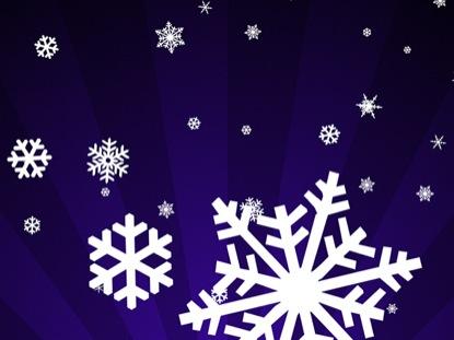SNOWFLAKES ON PURPLE RADIAL LOOP