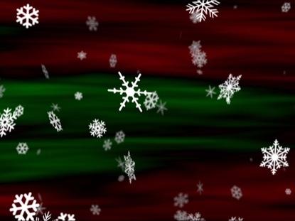 SNOWFLAKES RED GREEN LOOP