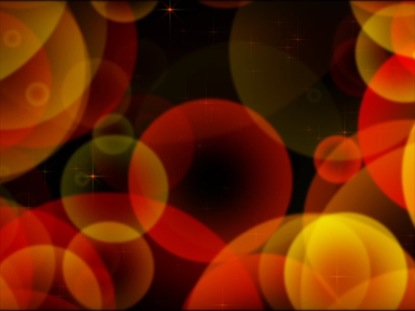 SPHERES AND SPARKLES RED-ORANGE YELLOW