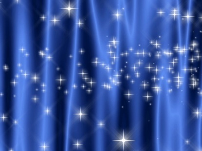 STAR CURTAIN BLUE