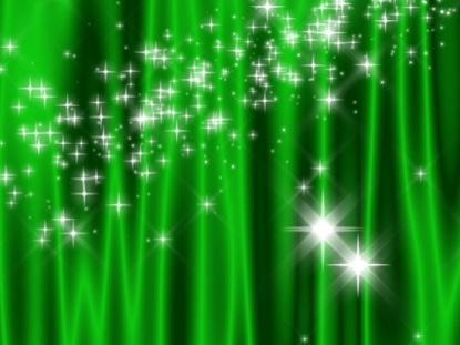 STAR CURTAIN GREEN