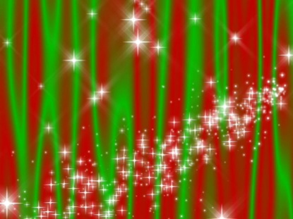 STAR CURTAIN RED-GREEN